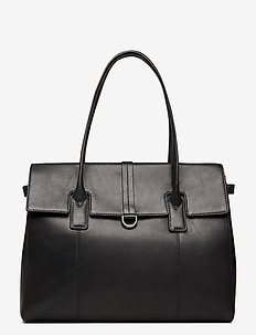 Aniella Work Bag, Antique - handbags - black