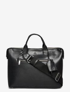 Abrielle Work Bag, Antique - väskor - black w/black