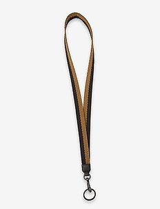 Deva Key Strap - nyckelringar - black w/mustard+black