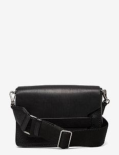 Vanya Guitar Crossbody Bag, Gr - skuldertasker - black w/black