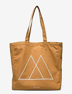 "Isidora ""Logo"" - tote bags - mustard w/white print"