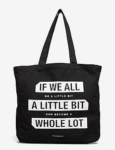 "Isidora ""Do A Little"" Shopper - tasker - black w/white print"