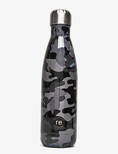 Rebottle 500 ml, Printed - vannflasker og termoser - camouflage black w/silver