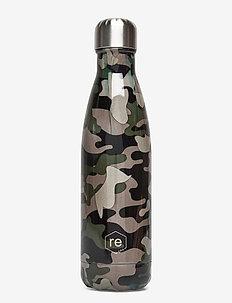 Rebottle 500 ml, Printed - vannflasker og termoser - camouflage green w/silver