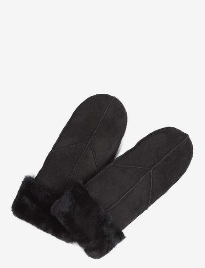 Jasmin Sheepskin Mitten - hanskat - black