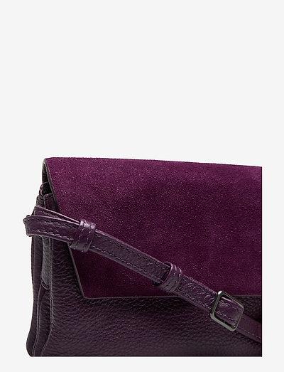 Markberg Rayna Crossbody Bag Suede Mix- Olkalaukut Dark Purple