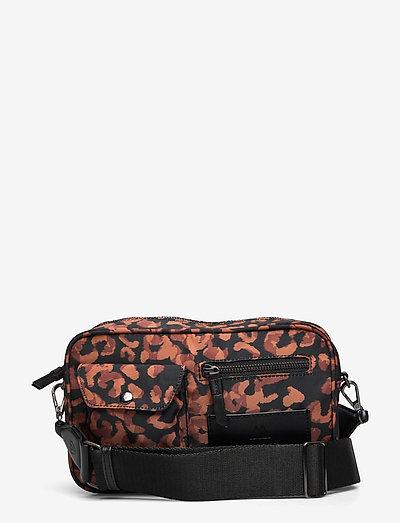 Darla Crossbody Bag, Recycled - tassen - cognac leographic w/black