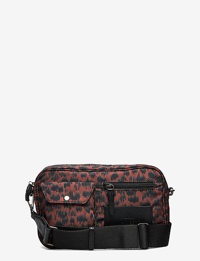 Darla Crossbody Bag, Recycled - shoulder bags - orange ani. army w/bl.