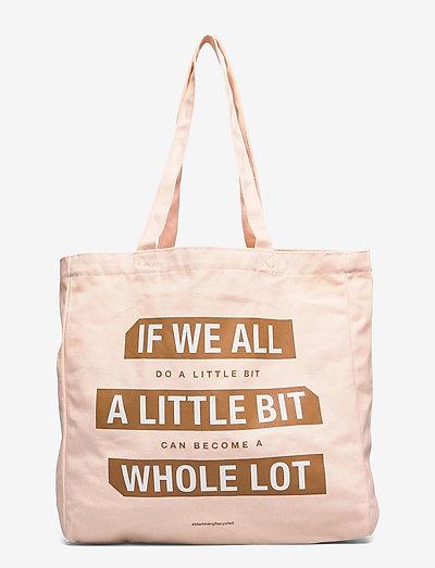 "Isidora ""Do a little"" - tote bags - blush w/mustard print"