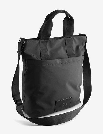 Ingrid Shopper, Recycled - tote bags - black w/black