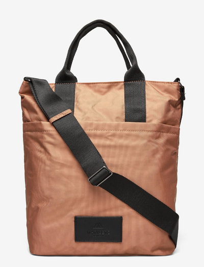 Ingrid Shopper, Recycled - tote bags - peanut w/black