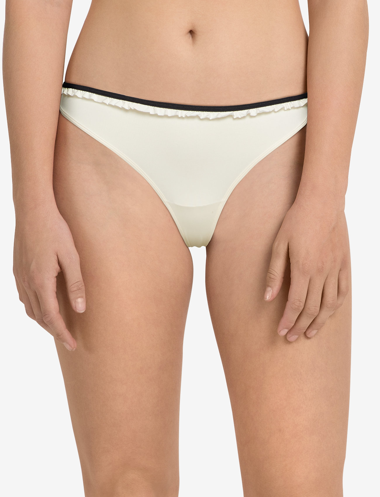 Marlies Dekkers MD SPACE ODESSEY THONG 4 IVORY-BLACK - IVORY/BLACK