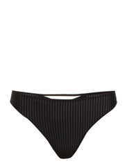 MD GLORIA PINSTRIPE THONG 4 - BLACK