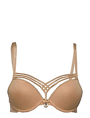 MD DAME DE PARIS SANDY BROWN PUSH UP BRA - SANDY BROWN