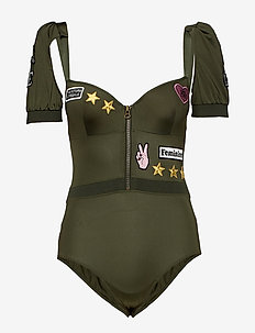 MD AVIATOR PLUNGE BALC. BODY - maillots 1 pièce - military