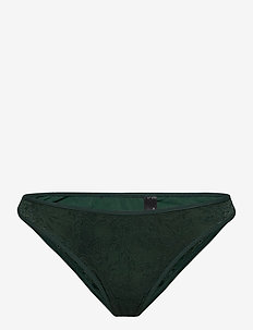 MD SO GREEN LACE THONG 4 - slips - pine green lace
