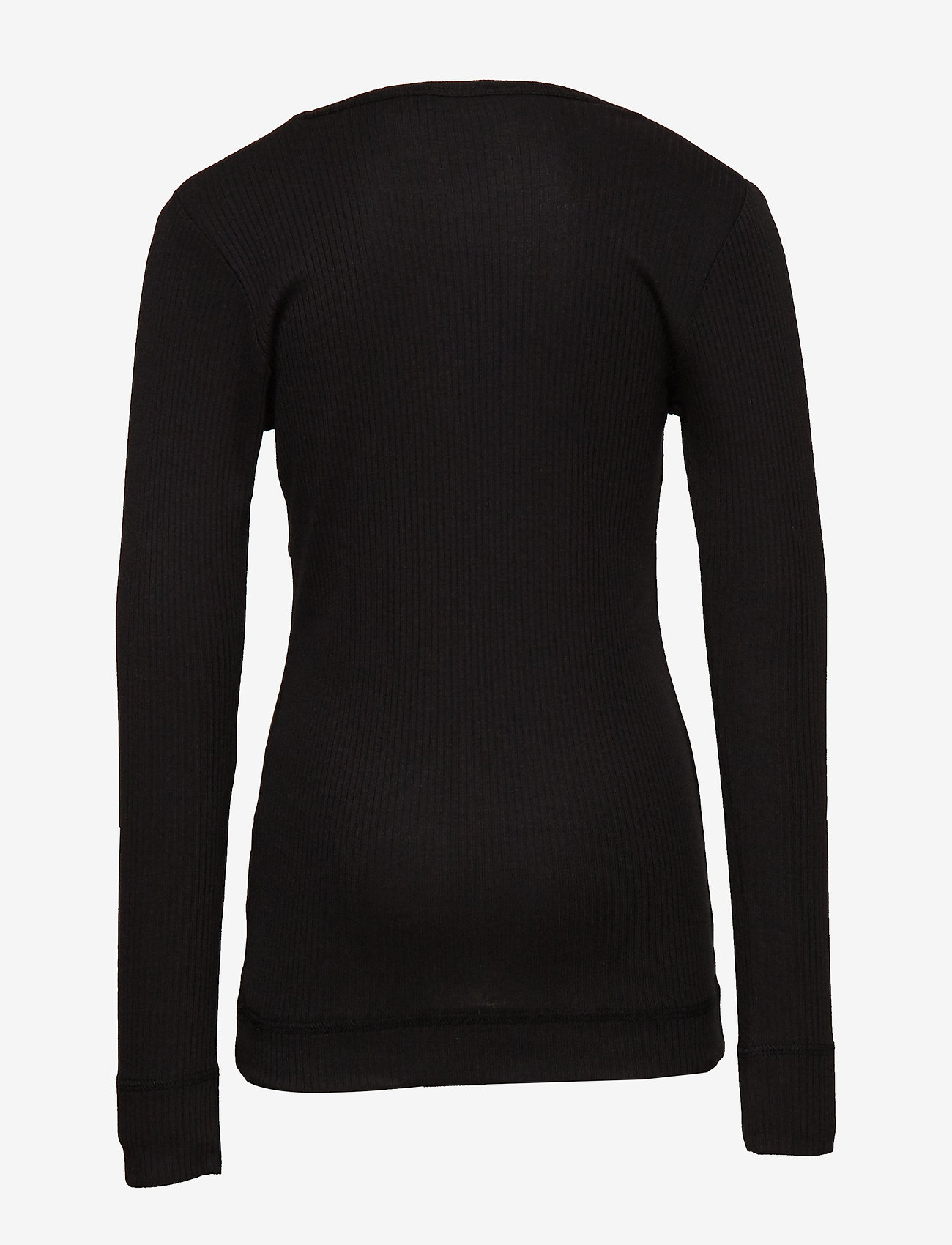 MarMar Cph - Plain Tee LS - long-sleeved t-shirts - black - 1