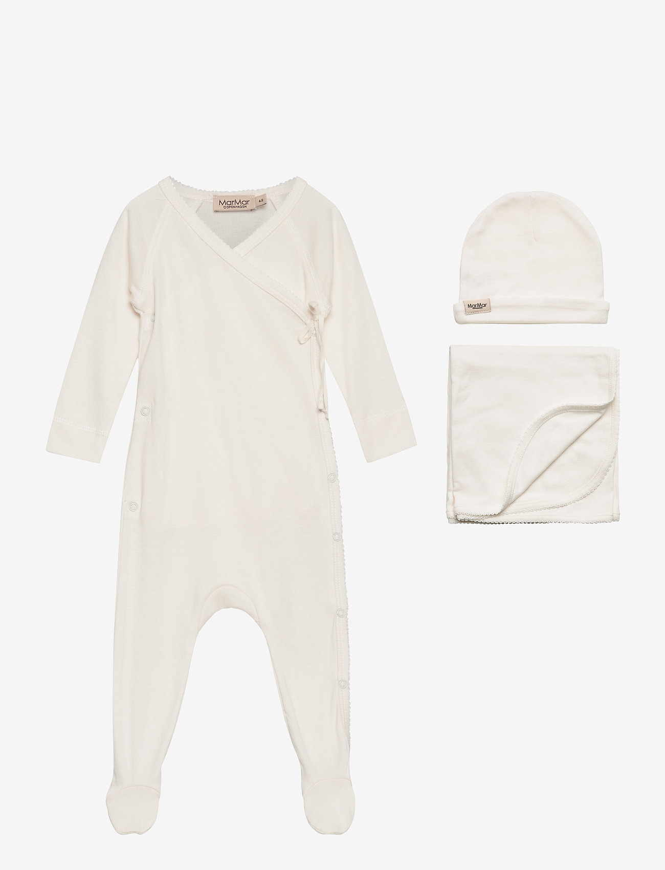 MarMar Cph - New Born Gift Box - suit, hat and blanket - langärmelig - gentle white - 0