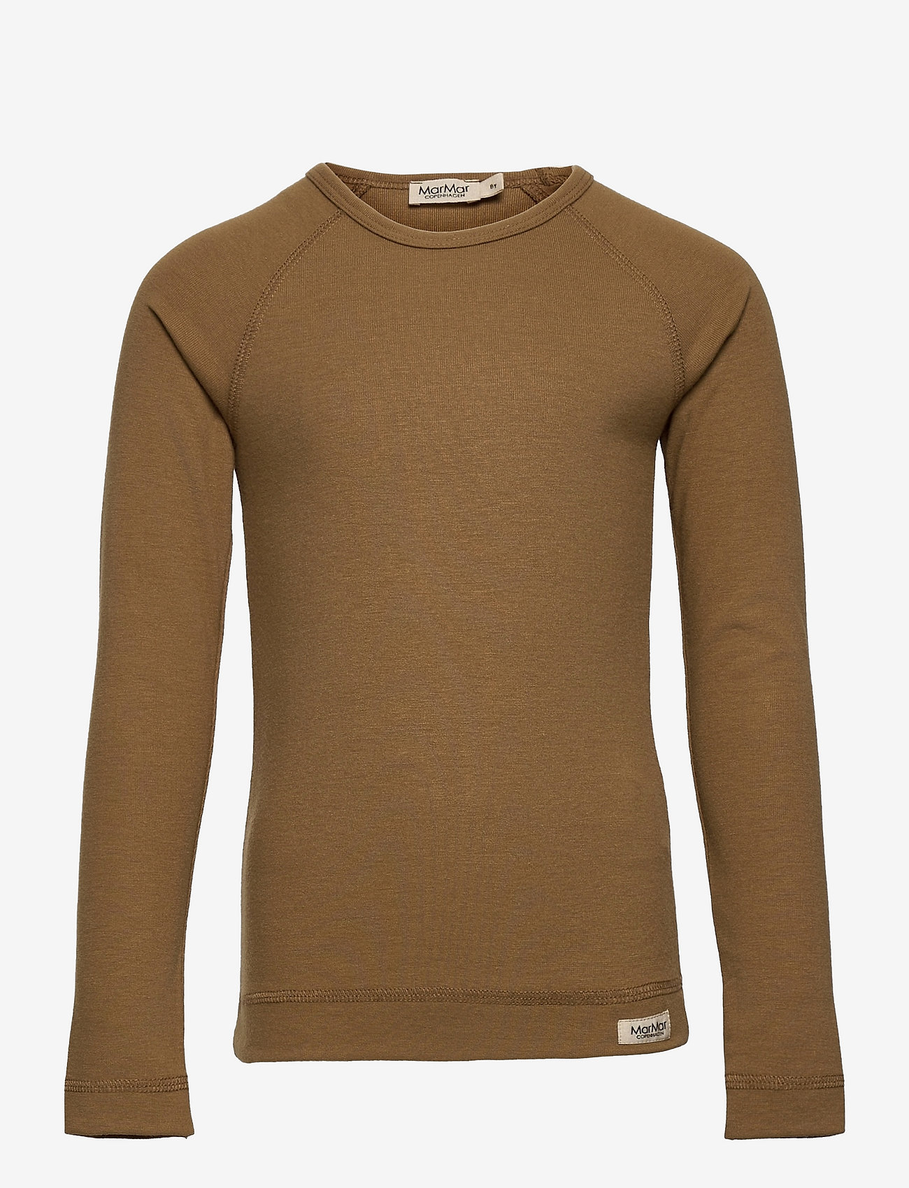 MarMar Cph - Base Tee LS - t-shirts - dark mustard - 0