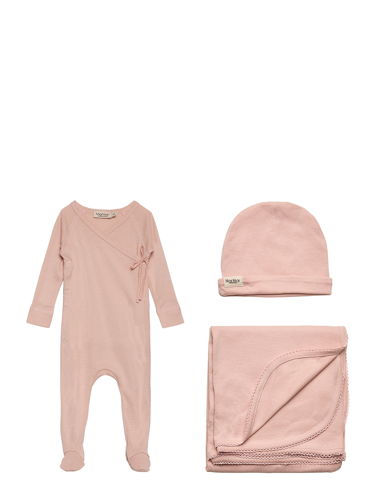 MarMar Cph New Born Gift Box - suit, hat and blanket - ROSE