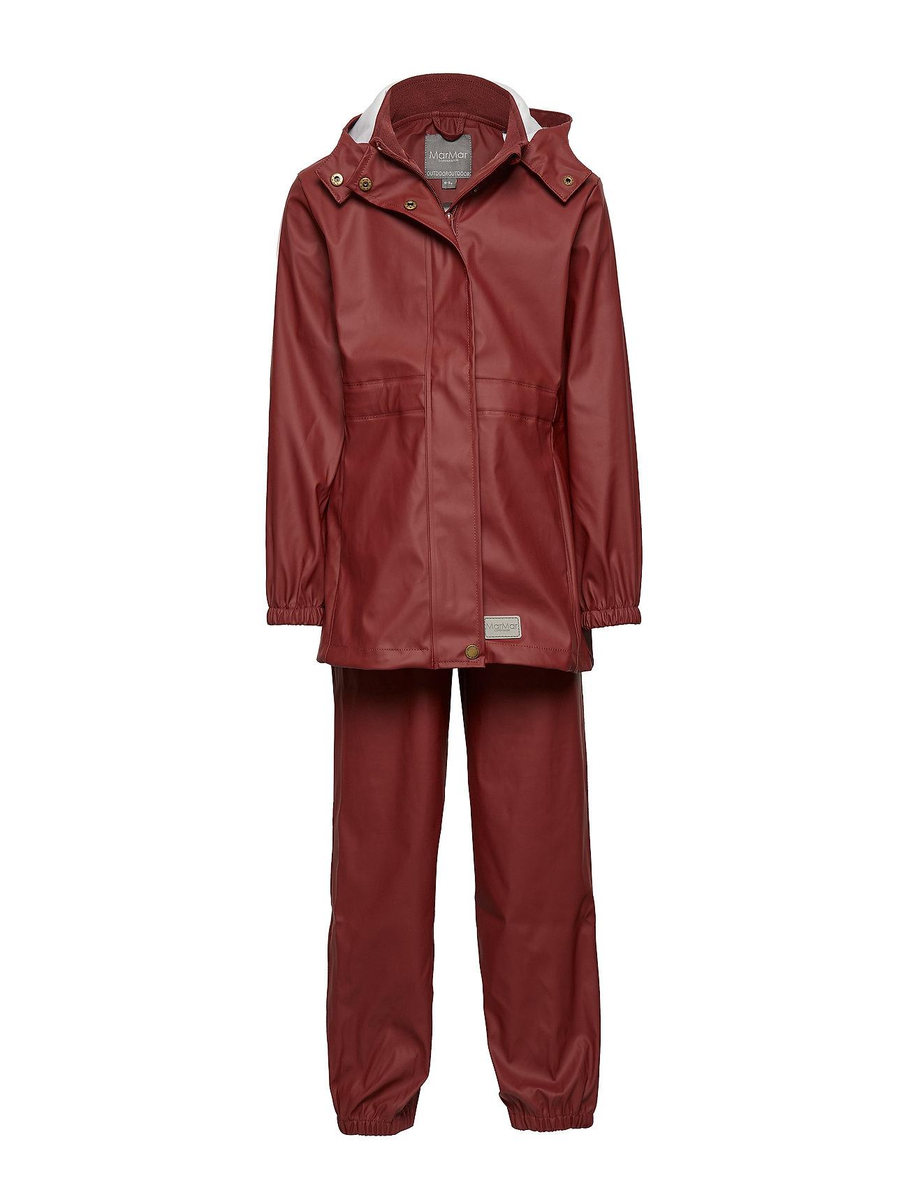 MarMar Cph Rainwear Set Kids Girl - WINE