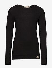 MarMar Cph - Plain Tee LS - long-sleeved t-shirts - black - 0