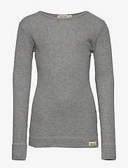 MarMar Cph - Plain Tee LS - long-sleeved t-shirts - grey melange - 0