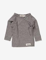 MarMar Cph - Tut Wrap LS - vienkāršs t-krekls ar garām piedurknēm - grey melange - 0