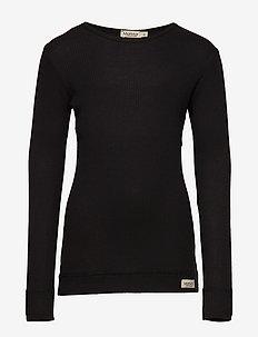 Plain Tee LS - langärmelige - black