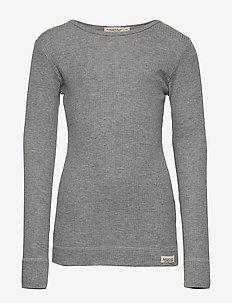 Plain Tee LS - manches longues - grey melange