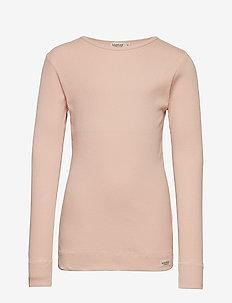 Plain Tee LS - langermede t-skjorter - rose
