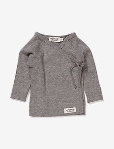 Tut Wrap LS - logo - grey melange
