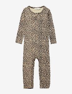 Leo Suit - met lange mouwen - brown leo