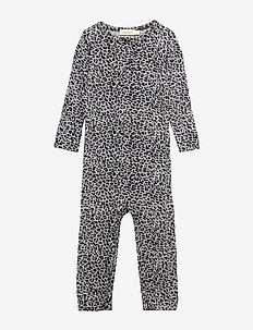 Leo Suit - long-sleeved - grey leo