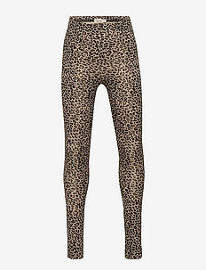 Leo leggings - leggings - brown leo