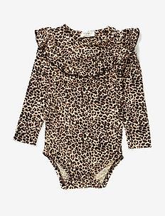 Leo Bibbi Body LS - długie rękawy - brown leo