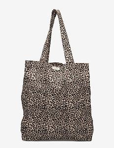 Leo Shopper - tote bags - brown leo