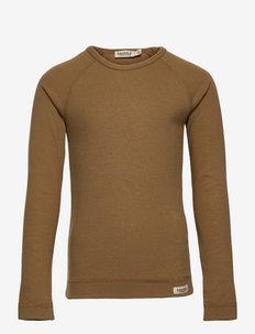 Base Tee LS - long-sleeved t-shirts - dark mustard