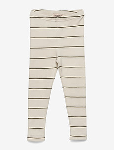Leg - leggings - dark olive stripe
