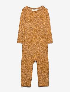 Leo Suit - met lange mouwen - pumpkin pie leo