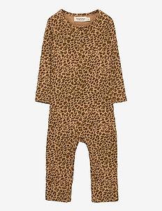 Leo Suit - À manches longues - leather leo