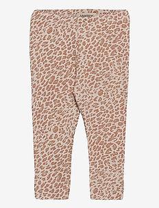 Leo Leg - leggings - rose brown leo