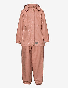 Rainwear Set Oceana - ensembles - rose brown dot