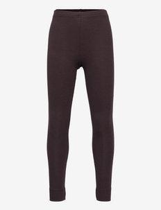 Leg - leggings - dark chocolate