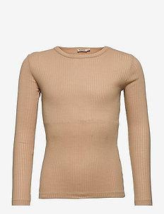 Tamra - long-sleeved t-shirts - champagne