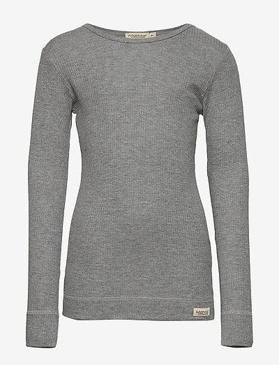 Plain Tee LS - langærmede t-shirts - grey melange