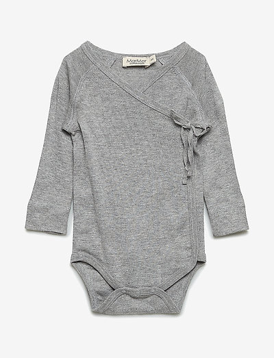 Belita - langärmelig - grey melange