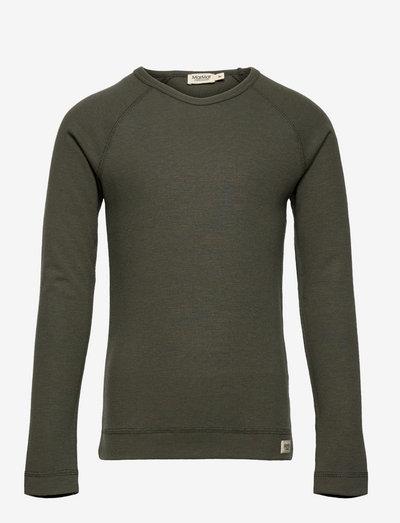 Base Tee LS - langærmede t-shirts - hunter