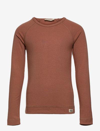 Base Tee LS - langærmede t-shirts - rose blush