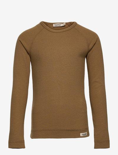 Base Tee LS - langærmede t-shirts - dark mustard
